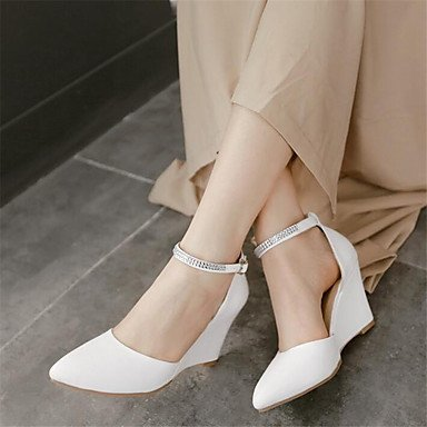 RTRY Donna Sneakers Comfort Pu Molla Canvas Informale Comfort Piatto Bianco US8 / EU39 / UK6 / CN39