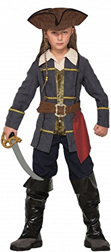 Piraten Verwegene Junge Kostüm - shoperama Captain Cutlass Piraten-Kostüm für Jungen in Topqualität Kinderkostüm Seeräuber, Kindergröße:110 - 4 bis 6 Jahre