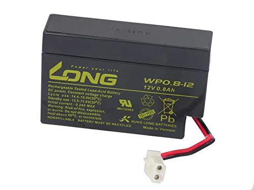 Akku Kung Long WP0.8-12 12V 0,8Ah AMP-Stecker AGM Blei Batterie wartungsfrei