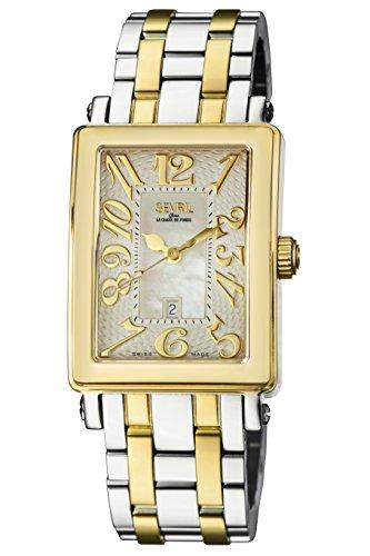 Gevril de la mujer 9544yb Avenue Ladies Midsize ipyg de dos tonos reloj de pulsera.