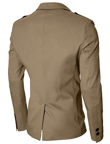 MODERNO - Slim Fit Veston Blazer Homme (MOD14518B) Beige