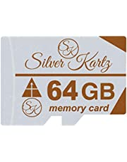 Silver Kartz 64GB SK A_Plus Memory Card for Mobiles; Tablets; Digital CCTV Drone Cameras and Other Micro Slots (skmc64gb)
