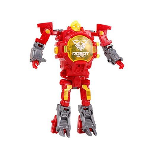 Verwandeln Sie Spielzeug Roboteruhr, 2 in 1 Roboteruhr, Digitale elektronische Uhr Roboteruhr Verwandeln Sie Uhr für Kinder, geeignet für Jungen und Mädchen