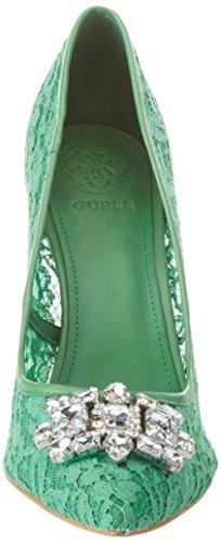 Guess Footwear Dress Sandal, Escarpins Bout Fermé Femme Verde (Medium Green)