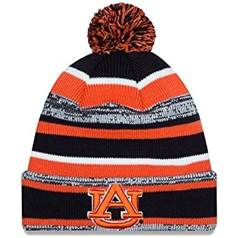 NCAA Auburn Tigers New Era College NE14 Sport Knit Beanie, One Size, Blue by New Era