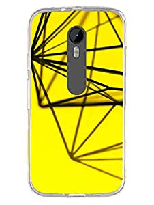 Moto G3 Back Cover - Geomatric Lines - Abstact - Pattern - Designer Printed Hard Case with Transparent Sides