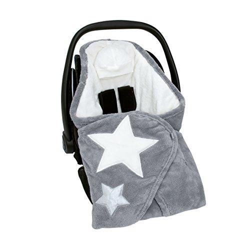 Preisvergleich Produktbild Bemini by Baby Boum 392STARY92SF Decke Biside Softy Stary Grizou, 90 x 90 cm, grau