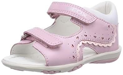 geox b sand nicely a sandales b b fille rose pink 25 eu chaussures et sacs. Black Bedroom Furniture Sets. Home Design Ideas