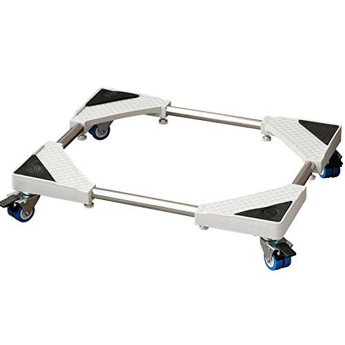 Waschmaschine Basis Roller Trolley Sockel Multifunktionale Bewegliche Kühlschrank Basis Unterlegscheibe Badregal Rollgestell Halterung Aus Edelstahl Vollautomatisch Barren Rollen Teleskopstützen