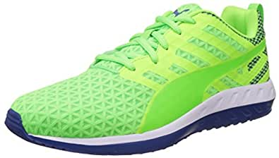 Puma Men's FlareQ2Filt Green Gecko, White and Surf The Web Running Shoes - 10UK/India (44.5EU)