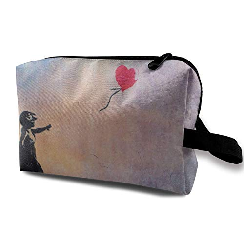 There is Always Hope Balloon Girl Makeup Multifunction Storage Portable Clutch Pouch Toiletries Organizer Bag Travel Cosmetic Bags Portable Hanging Travel Toiletry Bag Waterproof Pretty Makeup Bags