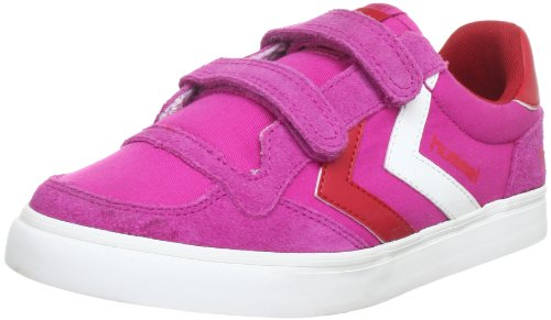 hummel STADIL CANVAS JR LOW 63-427-4009, Sneaker unisex bambino Rosa (Pink (RASPBERRY/RIBBON RED/WHITE 4009))