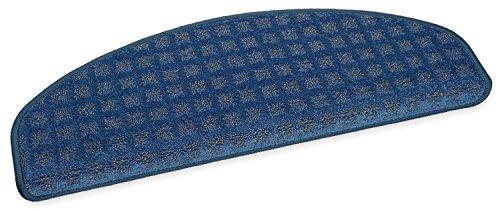 Ypsilon GmbH Esprit Tapis d'escalier Semi-Circulaire Bleu 65 x 23 cm