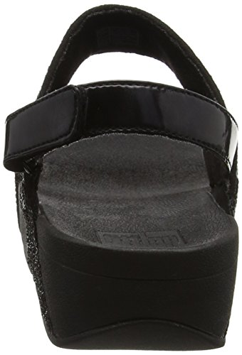 Fitflop Ladies Glitter Ball Sandal Black (glitter Nero)