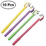 TOYMYTOY Lot de 10 joli stylo gel stylos licorne Pointe Fine pour fournitures scolaires,10PCS