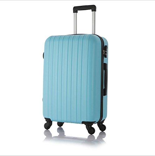 Xiuxiandianju 20 pollici 24 pollici ruota universale leva ABS angolo impermeabile retro valigia viaggio bagaglio di viaggio (una valigia dimensioni & colore diverso) , blue , 24 inch