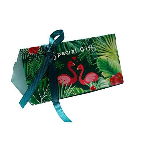 Jun 36pcs Tropical Flamingo/Forest chocholate Geschenkbox Hochzeit Geburtstag Süßigkeiten Boxen für Party Favor Supplies, Sackleinen, Flamingo, 3.9