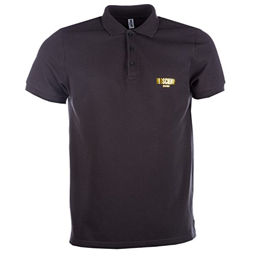 Moschino Herren Poloshirt schwarz / goldfarben