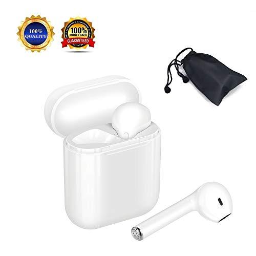 Auriculares inalámbricos Bluetooth, mini auriculares intrauditivos, auriculares Bluetooth verdaderamente inalámbricos, a prueba de sudor, reducción de ruido, micrófono incorporado con caja de carga, compatible con la mayoría de las marcas de teléfonos inteligentes