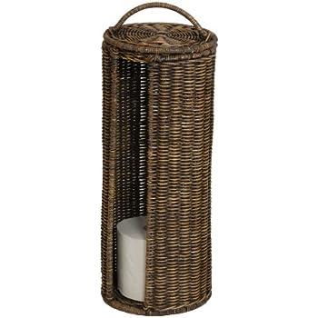 wc rollenhalter ersatzrollenhalter aus rattan braun gewaschen versandkostenfrei in de. Black Bedroom Furniture Sets. Home Design Ideas