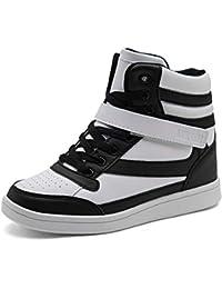 UBFEN Scarpe da Donna Stivali Tacco Interna Alte Sneakers Scarpe con Zeppa  Strappo Stealth Stivaletti Ginnastica 9bf537518ee
