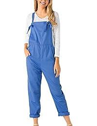701b686e5645e Salopette Pantalons,Covermason Femme Coton Casual Loose Harem Sarouel Salopette  Pantalon Combinaison Salopette Jumpsuit Romper