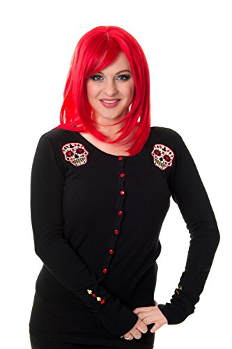 Banned Apparel-Cardigan da donna Skyler nero Rockabilly Black XX-Large