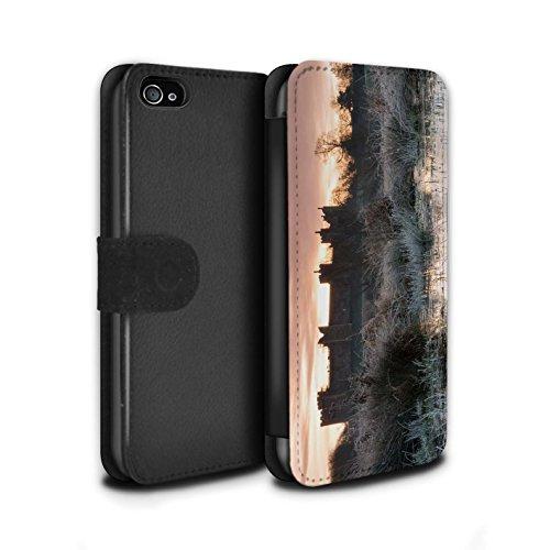 Stuff4 Coque/Etui/Housse Cuir PU Case/Cover pour Apple iPhone 4/4S / Tour Design / Château Fort Collection Marsh/Couleur