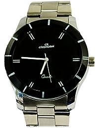 Chromotek Analogue Black Round Dial Wrist Watch For Men.