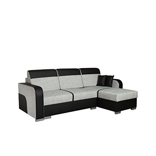 Mirjan24  Design Ecksofa Eckcouch Bari mit Schlaffunktion und 2 Bettkasten, Bettsofa, L-Form Funktionssofa, Sofa Wohnlandschaft Couch (Cayenne 1114 + Nevada 3)