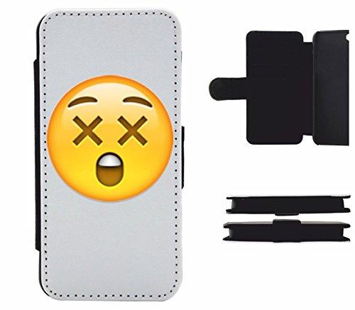 """Leder Flip Case Apple IPhone 4/ 4S """"Erstauntes Gesicht"""", der wohl schönste Smartphone Schutz aller Zeiten."""