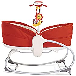 Tiny Love Transat Bebe Balancelle Rocker Napper Rouge