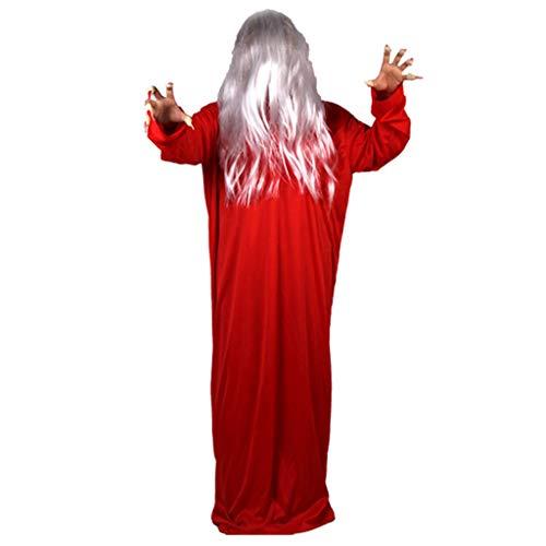 RROVE Männer Frauen Halloween Kostüme Requisiten Geist Kleidung Narben Fingernägel Haarnetz Kunstblut Perücken Horrible Scary Party - Scary Kostüm Männer