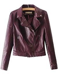 Pteng Giacca Donna Vestiti Casual Cappotto Corto Bordeaux Temperamento  Nobile Bluse Felpe Cadere f84f1aefe96