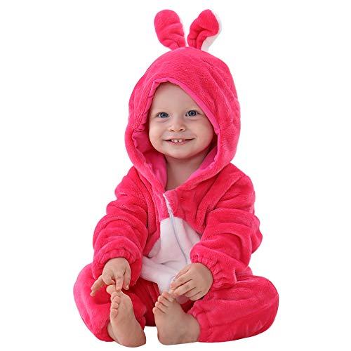 3 Familie Eine Für Kostüm Mit - MICHLEY Baby Unisex Flanell Babykleidung, mädchen und Junge Pyjama kostüm Bekleidung für Kinder von 2-5 Monaten,Rot