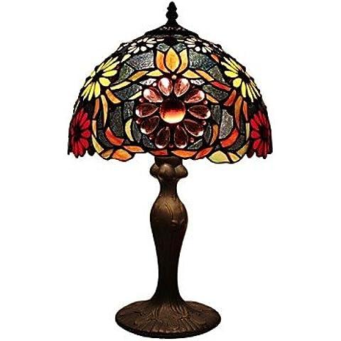 Lampada da tavolo tiffany con perle di vetro , 220-240V
