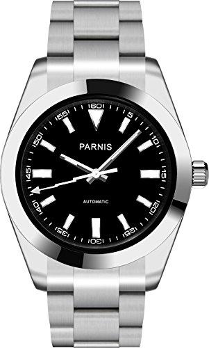 PARNIS 2142 sportliche 40mm Herren-Automatikuhr Miyota Uhrwerk Kal. 821A Saphirglas 316L Edelstahl-Gehäuse und Armband 5 Bar wasserdicht
