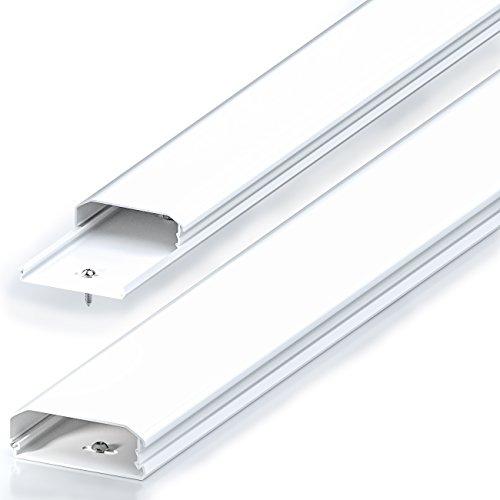Canaleta universal deleyCON, para colocar cables y líneas, PVC de primera, longitud...