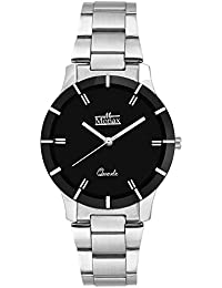 Monax Black Dial Analog With Chain Watch For Women & Girls - MW0504