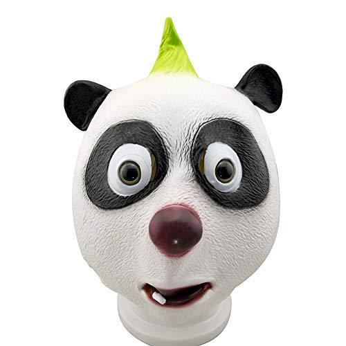 Kind Panda Deluxe Kostüm - Story of life Panda Maske, Deluxe Neuheit Halloween Kostüm Party Latex Tierkopf Maske Für Erwachsene Und Kinder,White