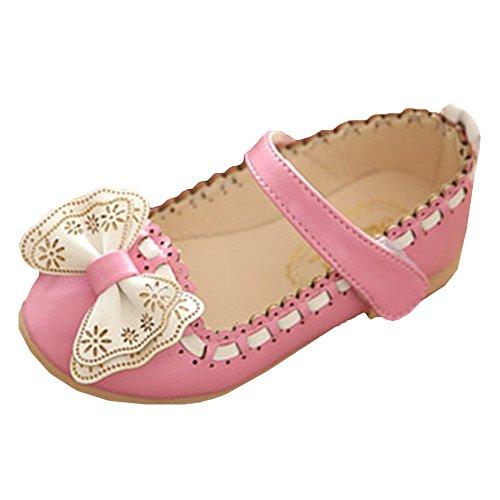 Scothen Princesse nounou bébé ballerines élégantes Party Chaussures enfants Chaussures fille de fête chaussures en cuir étudiant chaussures de danse chaussures papillon boucle paragraphe Costume Rose