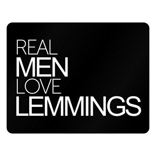 Idakoos Real men love Lemmings - Tiere - Plastic Acrylic (Lemmings Tiere)