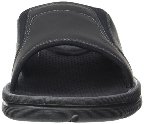 Rockport Gyks Strap Slide, Mules Homme Noir (Black Lea)