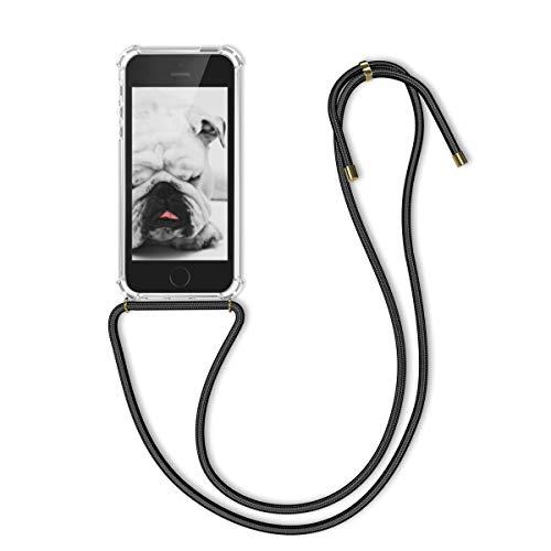 kwmobile Apple iPhone SE / 5 / 5S Hülle - mit Kordel zum Umhängen - Silikon Handy Schutzhülle für Apple iPhone SE / 5 / 5S (Handy-zubehör Iphone Für 5s)
