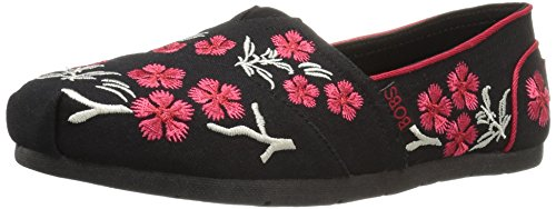Skechers Bobs From Women's Luxe Cherry Blossom Flat, Black Cherry Blossom, 8.5 M US (Blossom Blk)