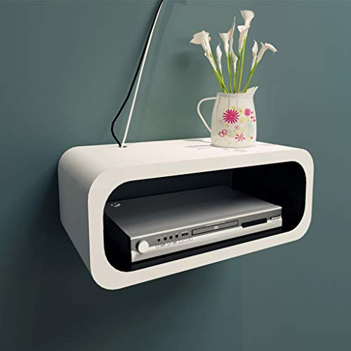 Dvr Vcr (FENG Floating Shelf TV Wandhalterung Regal für Kabelbox DVD-Player Audio-Gaming-Systeme Streaming-Geräte DVR VCR Kabelbox Schweberegale (Farbe : White1))