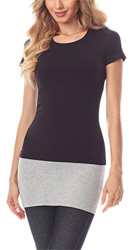 Merry Style Verlängerungsgurt für Hemden T-Shirts MS10-202 (Melange, XXXXL (Herstellergröße: 48))