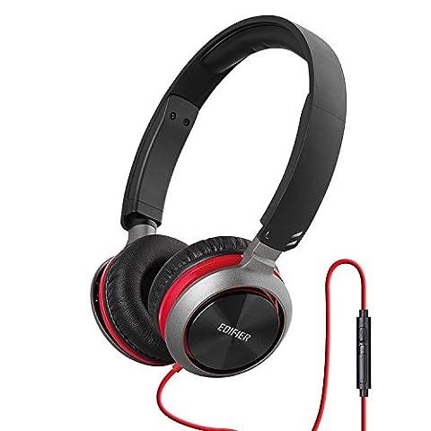 Edifier M710 On-Ear Kopfhörer Mit Mikro und Laustärkeregler Rot