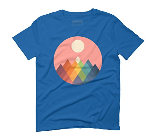 Rainbow Peak Men's Graphic T-Shirt - Design By Humans Royal Blue