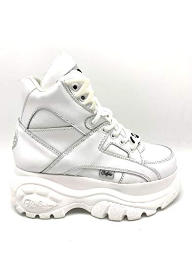 Buffalo London Classic Boots Shoes Plateau Schuhe Weiß (38 EU, Weiß)